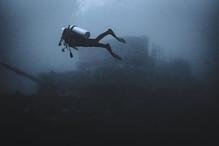 Estar debajo del agua es un tipo de medi
