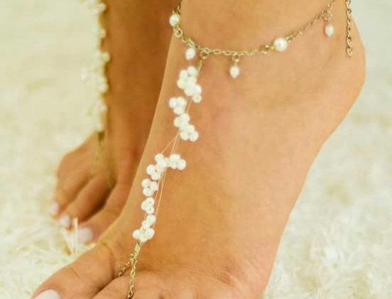 Foot Chain Mini Pérolas