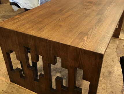 Stained Ash Dining Table