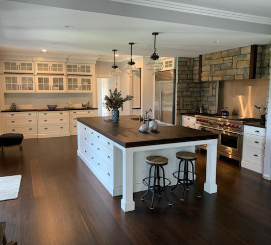 Roasted Peat Flooring and Benchtop