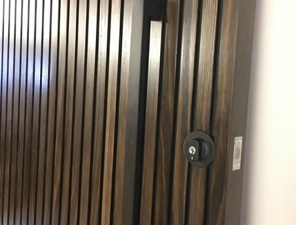Stained Ash Slat Door
