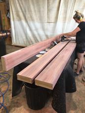 Red Ironbark Heavy Veneer Posts - raw