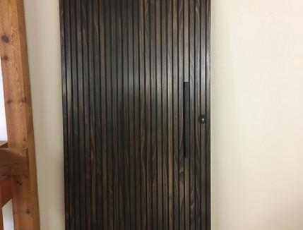 Stained Ash Batten Door