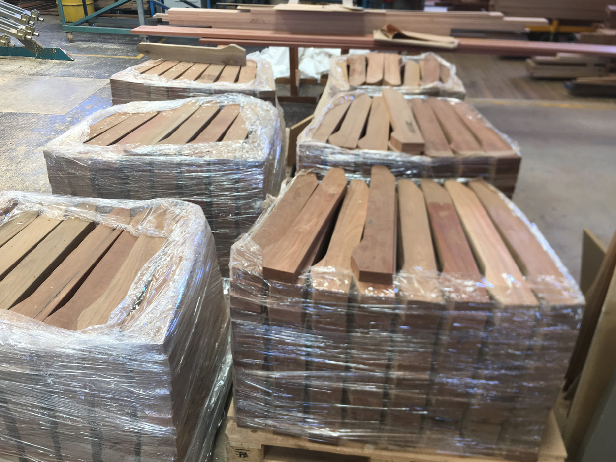 Individual Seat Slats - Spotted Gum