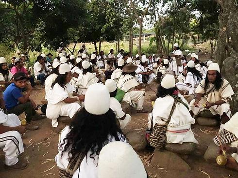 Mamo healers initiating healing meditati