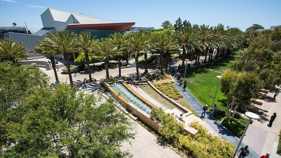 Aerial view of the SMC main campus quad