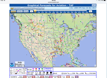 Mini Blog: The Area Forecast (FA) is now the Graphical Forecasts for Aviation (GFA)