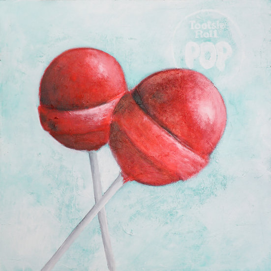 """Tootsie Roll Pops"" 17x22 Limited Print"