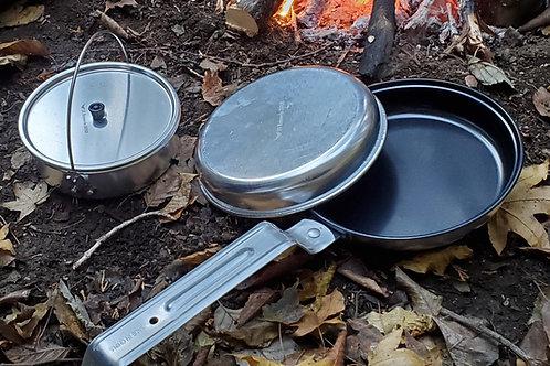 アルミニウム Pan & Pot Cookset