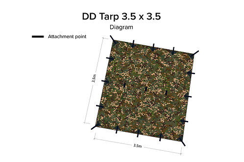 DD Tarp 3.5 x 3.5  MC