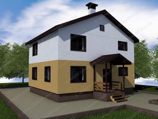 Строительство загородных домов из газобетона. Двухэтажный дом 10х11 по индивидуальному проекту 2 этажа