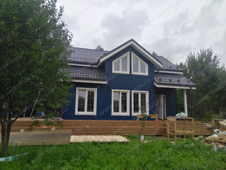 Теплый каркасный дом для сезонного проживания