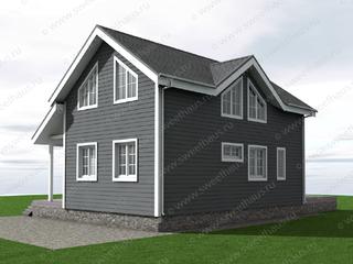 Фасад дома с четырьмя спальнями