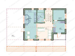 Планировка дома с 4 спальнями