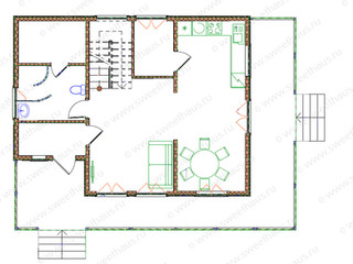 Дом с баней (планировка)