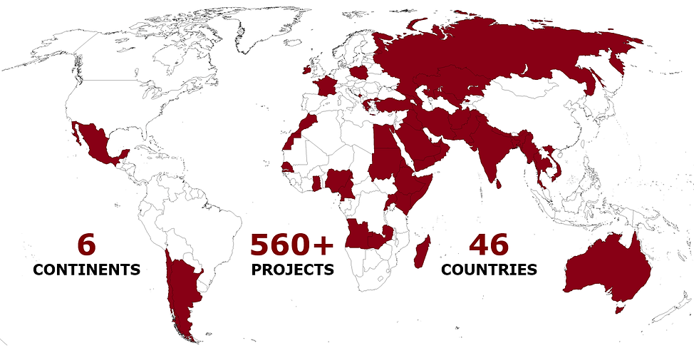 HCTS / 46 Countries 6 continents