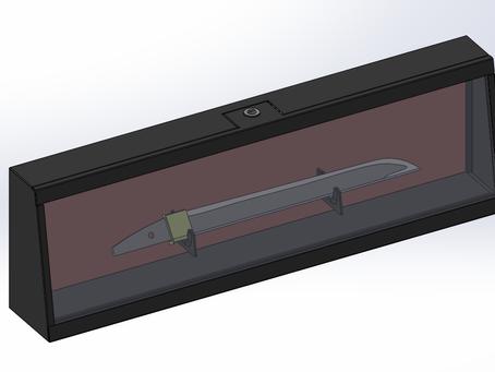 机に置ける刀展示ケース 製作開始