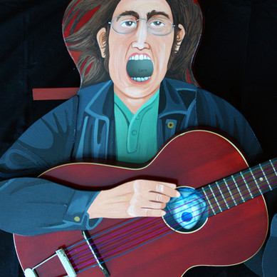 """Red Guitar Blues"" detail"