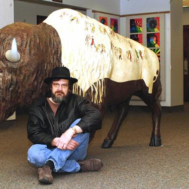 """Buffalo Robe"" (with painter)"