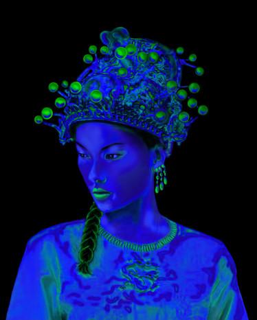 Estudo em Azul 100 x 90 cm