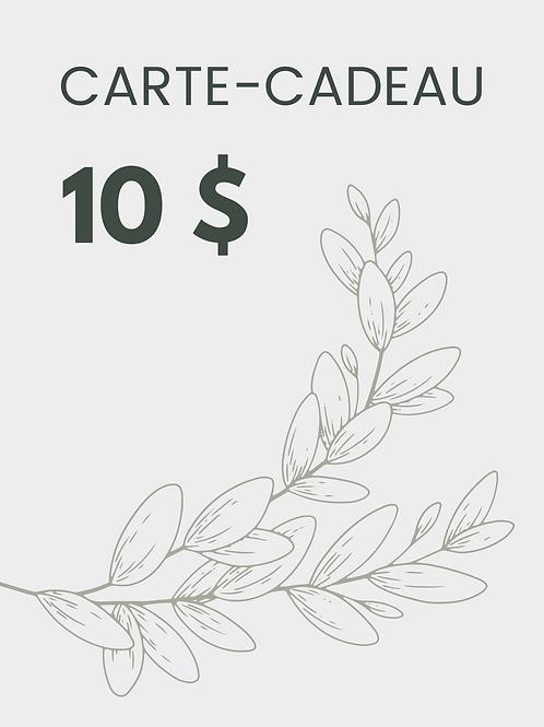 Carte-cadeau 10 $