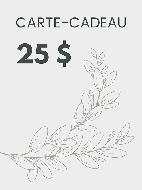 Carte-cadeau 25 $