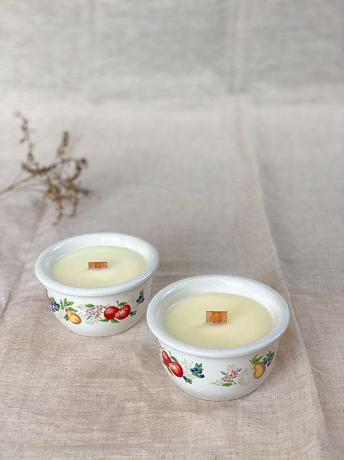 Duo de chandelles - Latté à la vanille et baies & poire