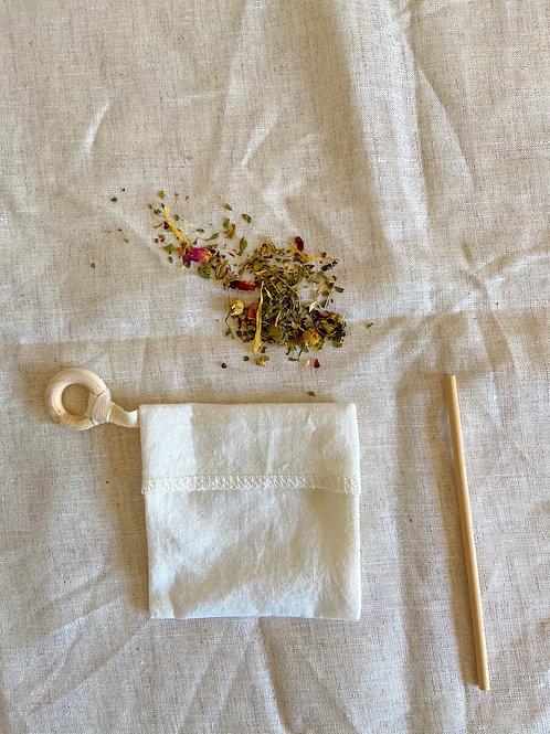 Ensemble de deux sachets de thé réutilisables