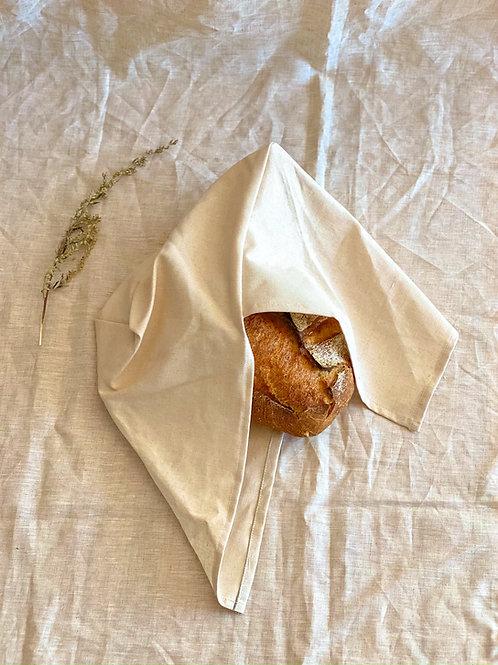 Sac à pain bento en lin