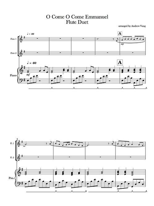 O Come O Come Emmanuel- Two Flutes and Piano