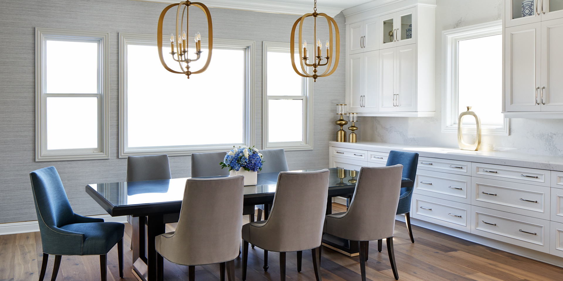 Transitional Open Space Dining Room
