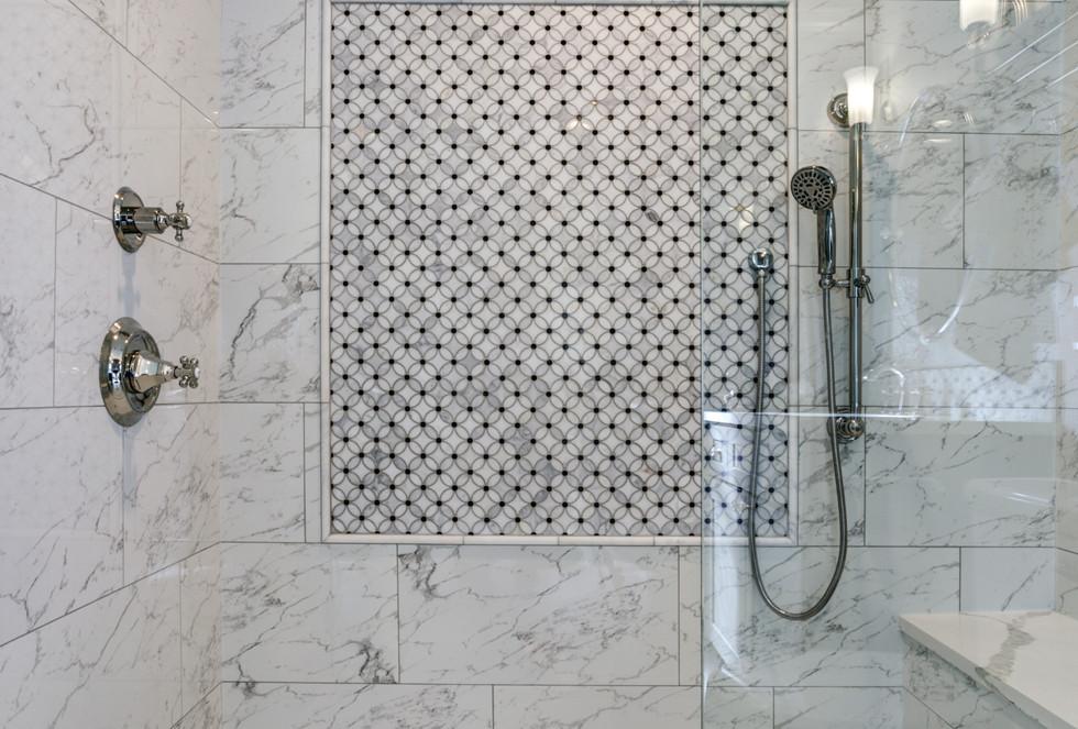 Transitional Walk-in Bathroom Los Angeles