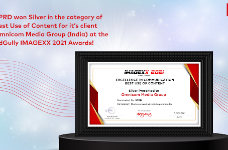 SPRD won Silver in the category of Best Use ofContent at the AdGully IMAGEXX 2021 Awards!