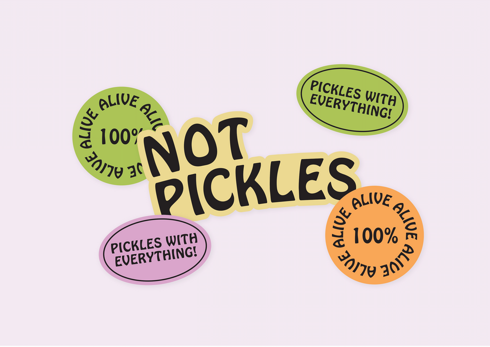 Not Pickles Stickers