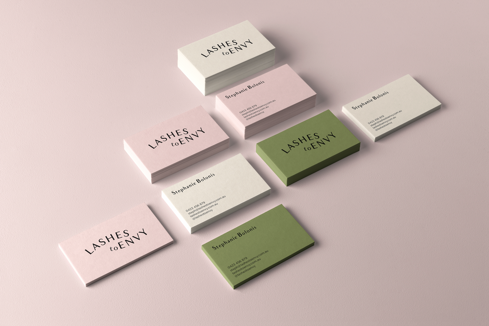 Lashes To Envy Business Cards