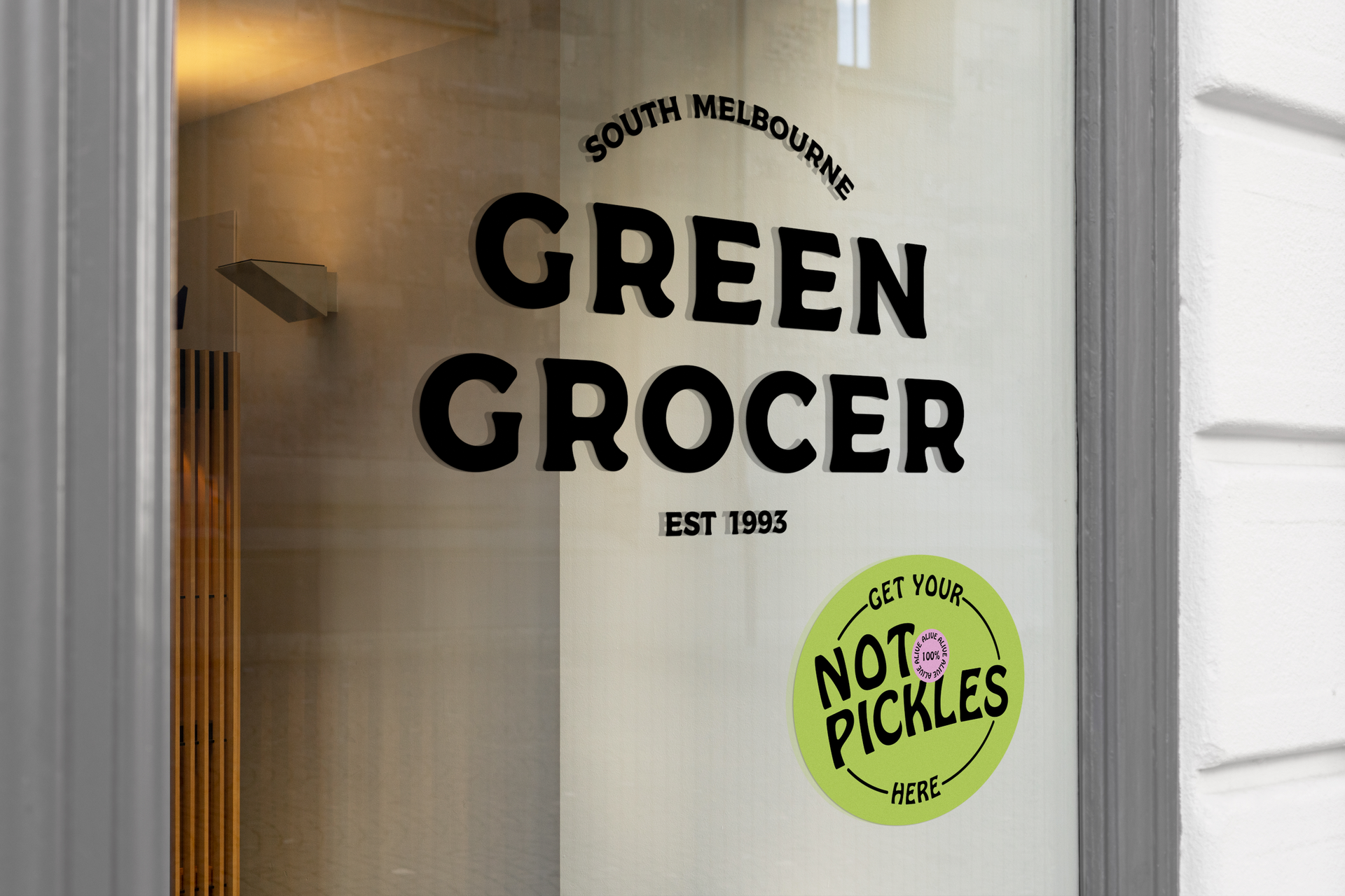 Not Pickles Window Decal