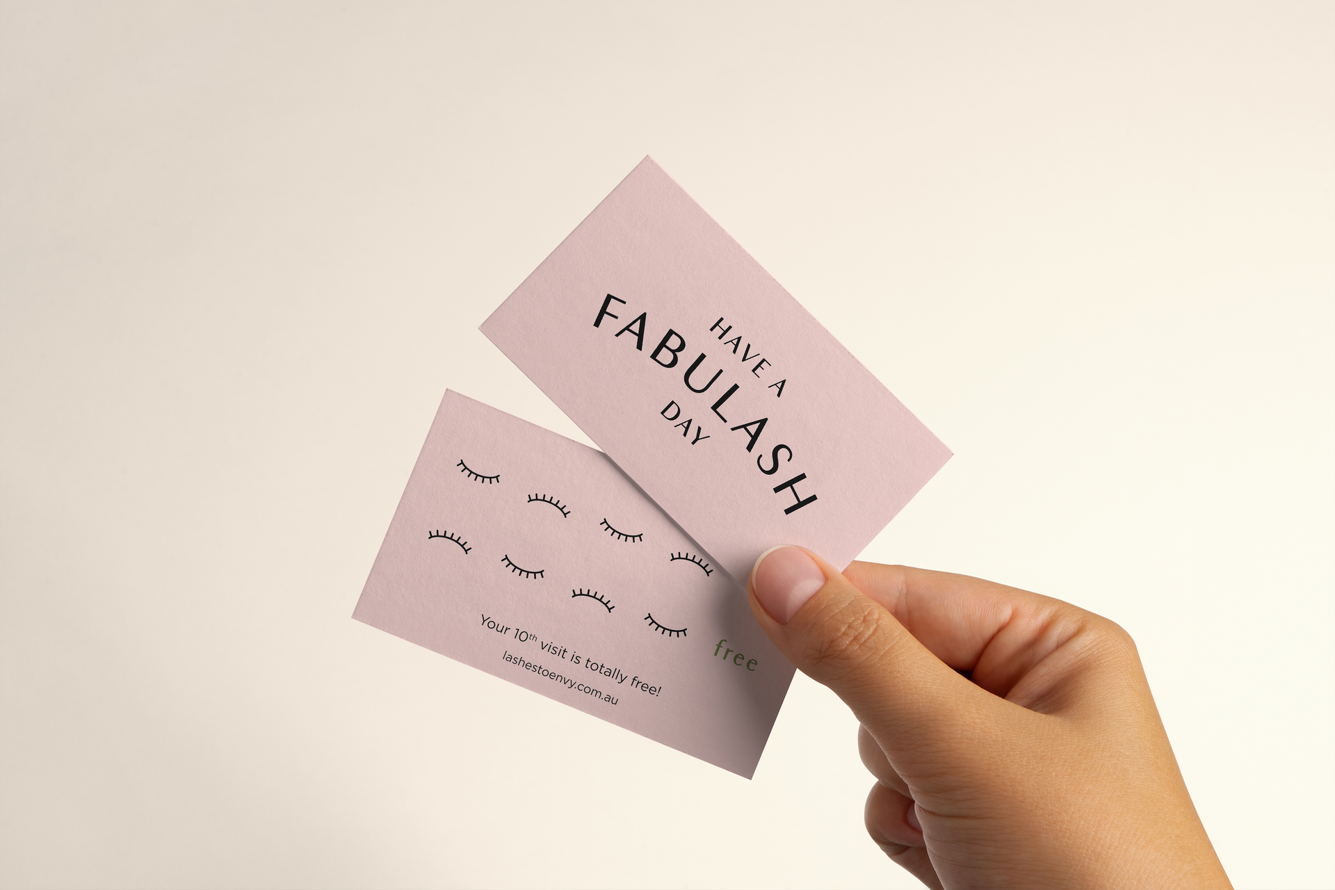 Lashes To Envy Loyalty Card