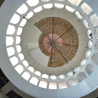Prayer hall -dome view from inside