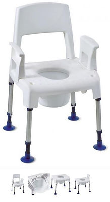 CHAISE DE DOUCHE PERCEE PICO COMMODE MAT MEDIC