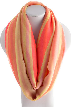 Orange Multi Colored Scarf