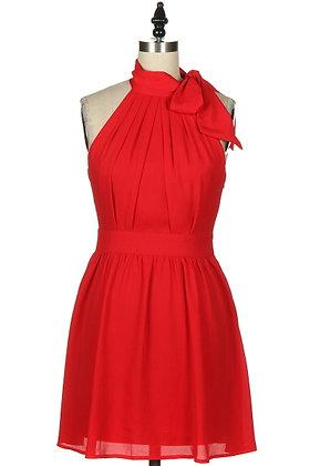 Red Self-Tie Halter