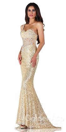 Dazzling Gold Sequin Dress