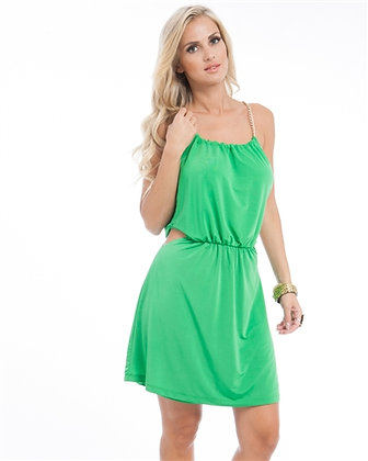 Green Chain Dress