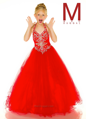 MAC DUGGAL Red Halter 48319s Sugar
