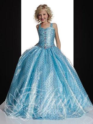 Aqua Tiffany Girls Gown