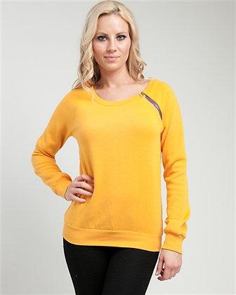 Yellow Side Zip Sweater