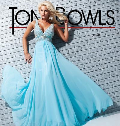 TONY BOWLS Light Blue Gown
