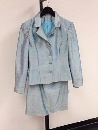 Miss Aquamarine Dupioni Suit
