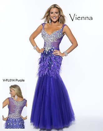Sheer Purple Mermaid Gown