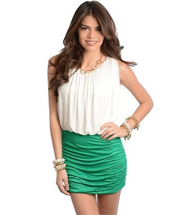 Green & Ivory Dress